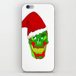 The Death Of Christmas - Santa's Skull  iPhone Skin