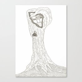 creature tree two Canvas Print