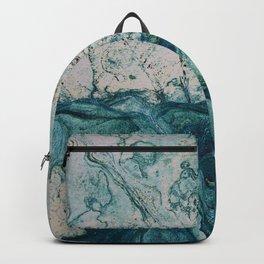 Blue underwater stone Backpack