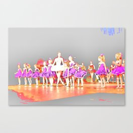 Ballerina and Students I Canvas Print