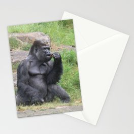 Gorilla Eating A Carrot Stationery Cards
