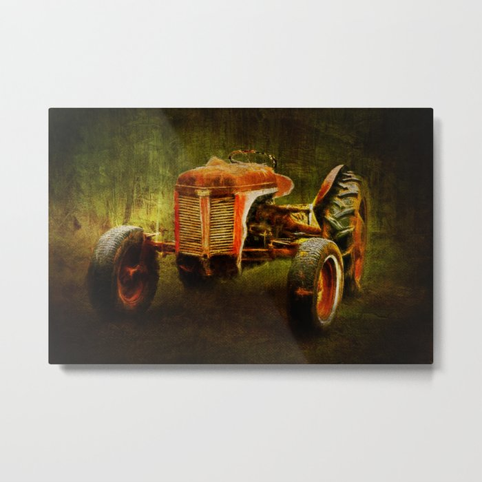 Ferguson Waiting on LaGest ~ Tractor ~ Ginkelmier Inspired Metal Print