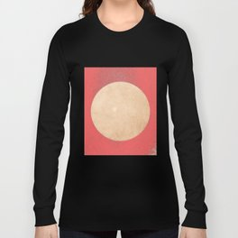 Imperial Coral - Moon Minimalism Long Sleeve T-shirt