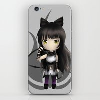 rwby iPhone & iPod Skins featuring Blake by Louiology
