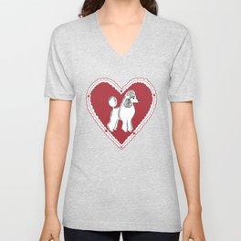 Poodle Love Unisex V-Neck