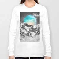 night Long Sleeve T-shirts featuring It Seemed To Chase the Darkness Away by soaring anchor designs