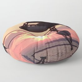 Sunset Sail Floor Pillow