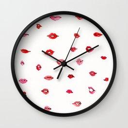 Lips and lips Wall Clock