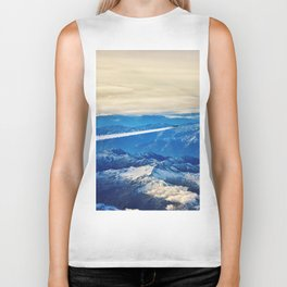 Airplane above the Clouds I Biker Tank