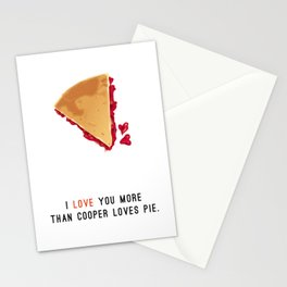 I Love You More Than Cooper Loves Pie Stationery Cards