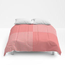 Coral Cubes Comforters