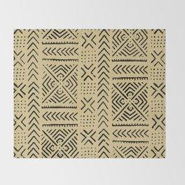 Line Mud Cloth // Tan Throw Blanket