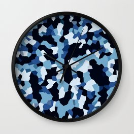 Pix Camo Shades of Blue Wall Clock