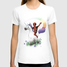 Dead Pool on a Unicorn T-shirt