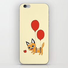Balloon Cat iPhone & iPod Skin