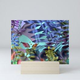 Goldfish in the blue sea Mini Art Print