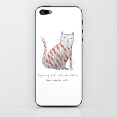 lightning bolt cats are better iPhone & iPod Skin