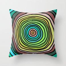 Circle Stripes Throw Pillow