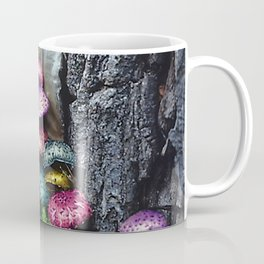 Rainbow Mushrooms Growing on Tree Bark Coffee Mug