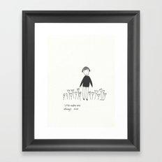 little walks Framed Art Print