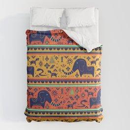 Walking With Elephants Comforters