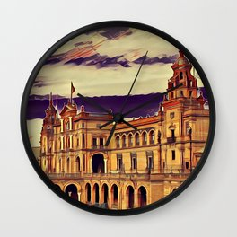 Plaza de Espana Wall Clock