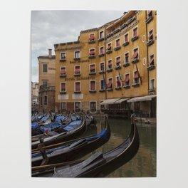 Venice. The rain Poster