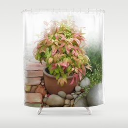 Leaves and Dew Shower Curtain