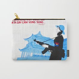 Vietnam propaganda poster - Never surrender Carry-All Pouch