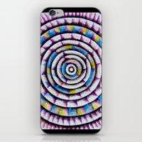 fibonacci iPhone & iPod Skins featuring 12 Rings of Fibonacci by Todd Huffine