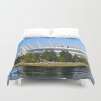 vancouver Duvet Covers featuring Vancouver by CarienMoore