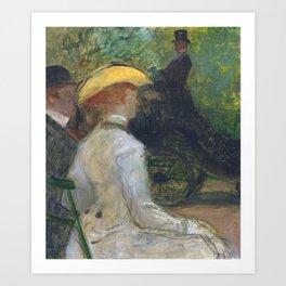 """Henri de Toulouse-Lautrec """"Au Bois de Boulougne"""" Art Print"""