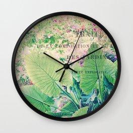 Les Jardins Wall Clock