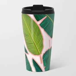 Banana Leaf Blush #society6 #decor #buyart Travel Mug