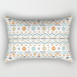 Southwestern Tribal Modern Geometric Stripes of Arrows Chevrons Diamonds Leaves Triangles Circles Rectangular Pillow