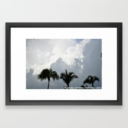 Trees kiss the cloud Framed Art Print