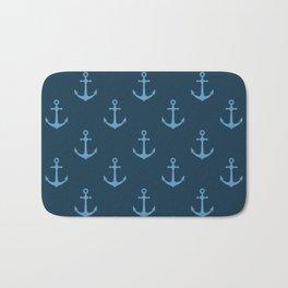 Nautical Anchor Pattern Bath Mat