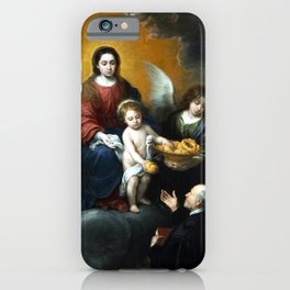 Bartolomé Esteban Murillo The Infant Christ Distributing Bread to the Pilgrims iPhone Case