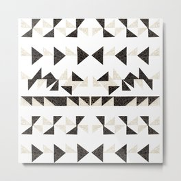 Origami Triangles Metal Print