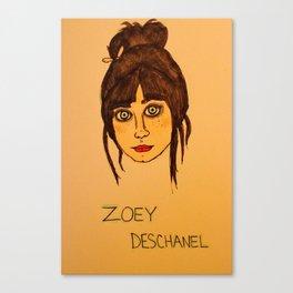 Zoey Deschanel Canvas Print