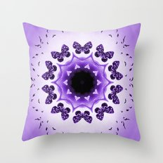 All things with wings (purple) Throw Pillow