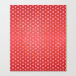 Lots of Dots - Geometric Pattern Design (Red) Canvas Print