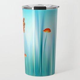 Spring Blue Travel Mug