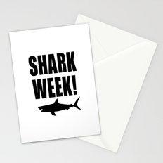 Shark week (on white) Stationery Cards