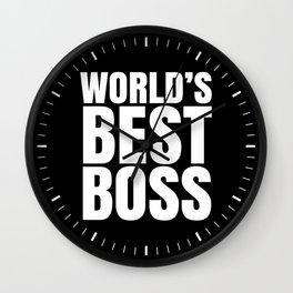 WORLD'S BEST BOSS (Black & White) Wall Clock