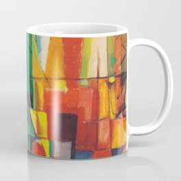 """Franz Marc """"Landscape with House and Two Cows (also known as Landscape with House, Dog and Cattle)"""" Coffee Mug"""