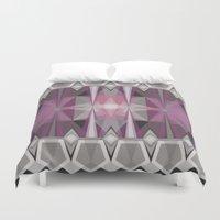 prism Duvet Covers featuring Pink Prism by Lunamumma
