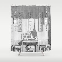 Garth antique fine art print Shower Curtain
