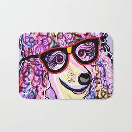 Hipster Poodle Bath Mat