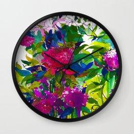 Summer Petals Wall Clock